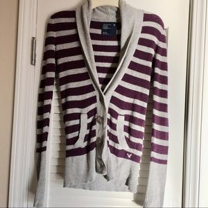 American Eagle Outfitters Striped Sweater Cardigan